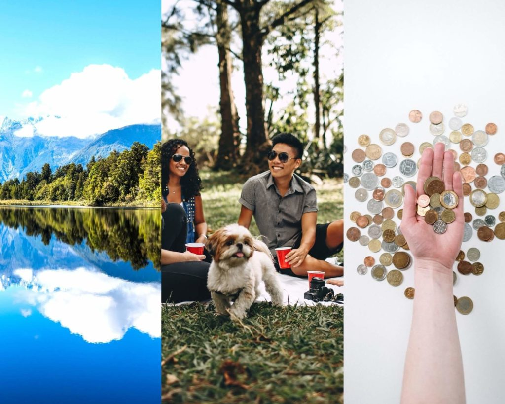 Collage de los principios de la sustentabilidad